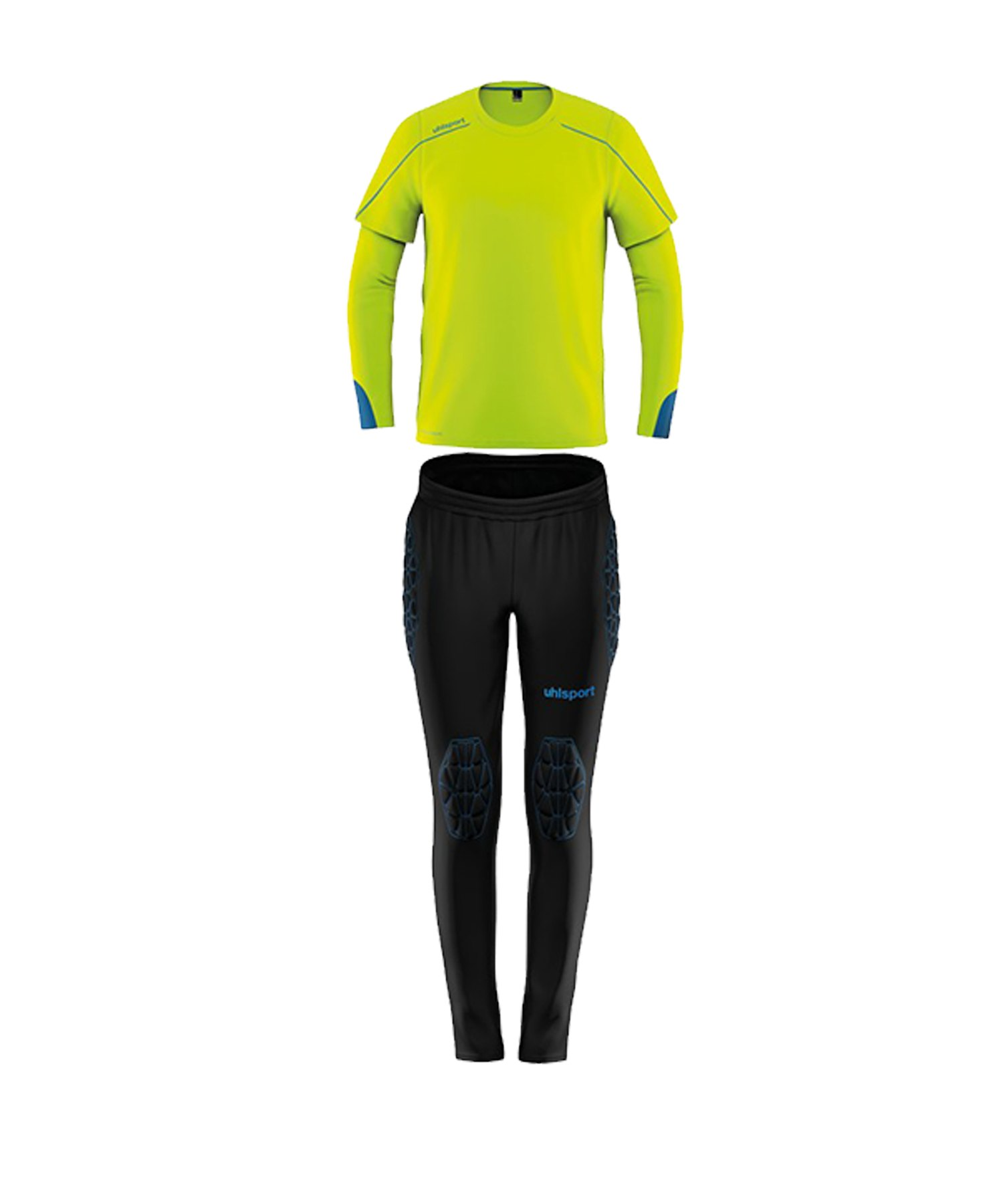 Uhlsport Stream 22 Torwart-Set Kids Gelb Blau F08 - Gelb