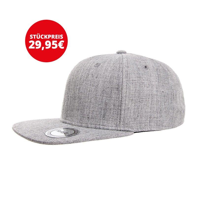 FuPa 20x Vereins-Cap Wappen Grau - grau