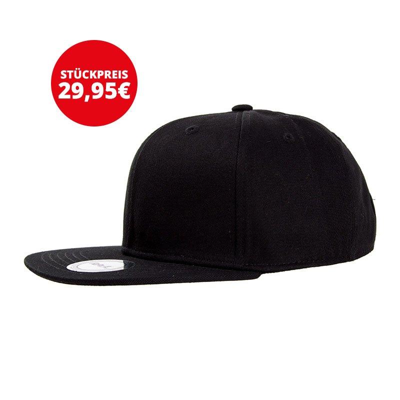 FuPa 20x Vereins-Cap Schriftzug Schwarz - schwarz
