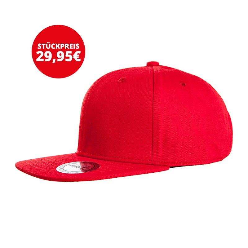 FuPa 20x Vereins-Cap Schriftzug Rot - rot
