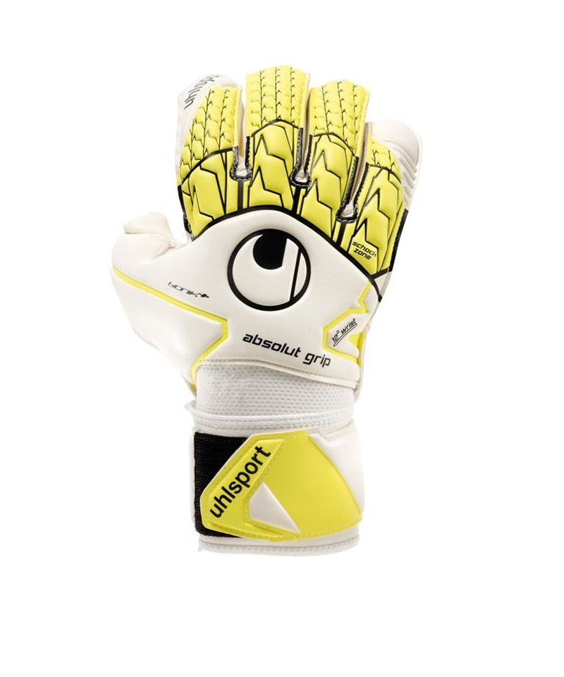 Uhlsport Absolutgrip Bionik+ Gelb Weiss F01 - weiss