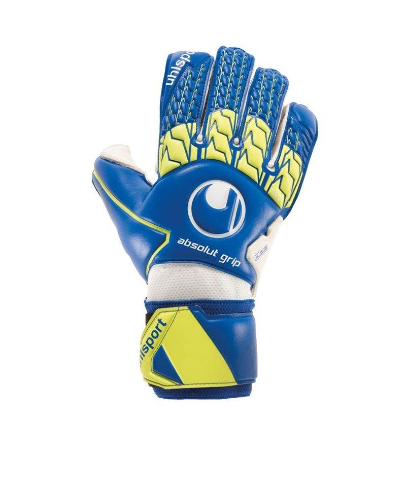 Uhlsport Absolutgrip TW-Handschuh Blau Gelb F01 - blau