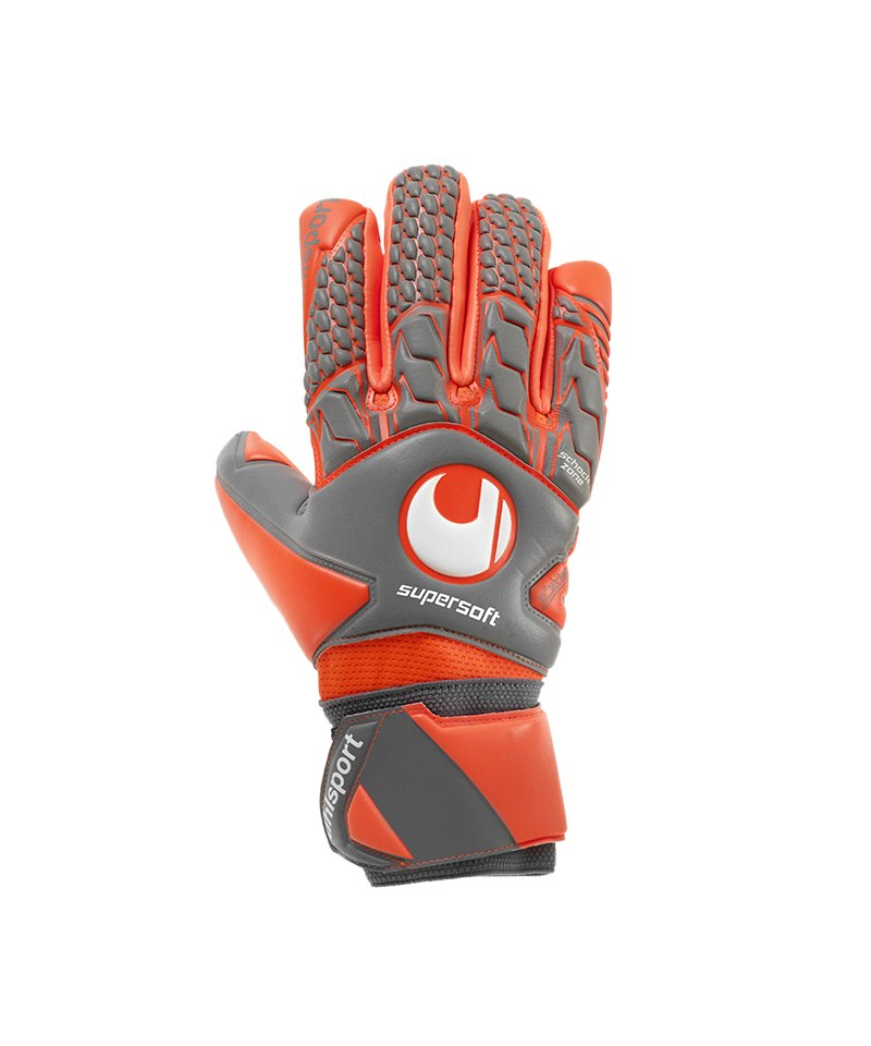 Uhlsport Aerored Supersoft HN Torwarthandschuh F02 - grau