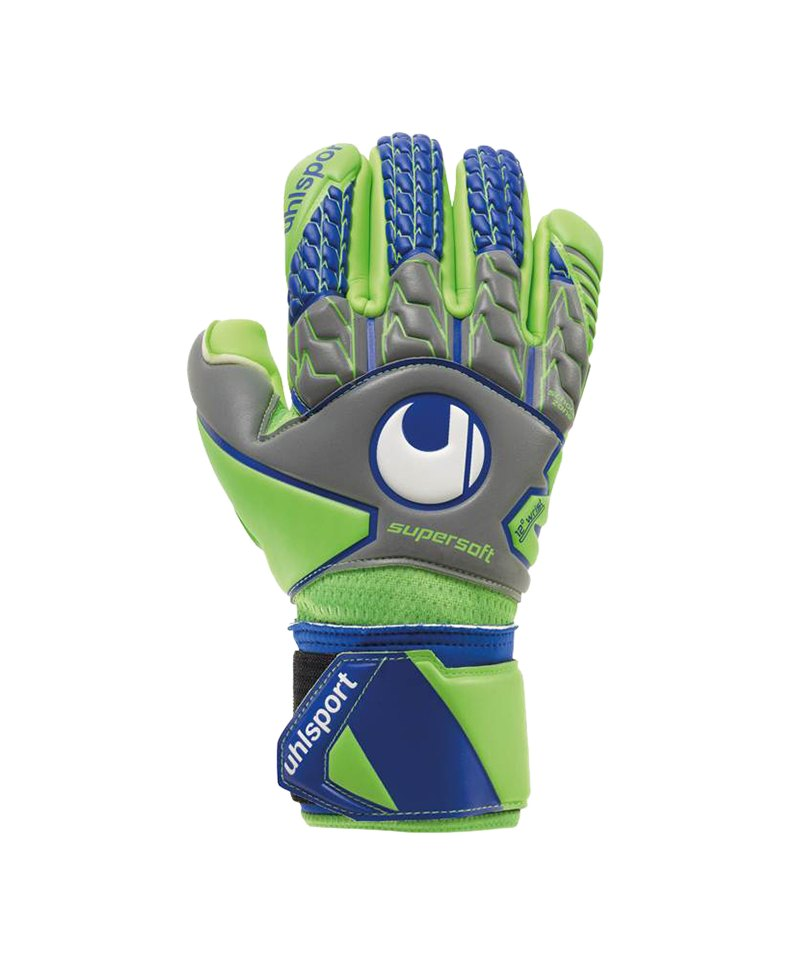 Uhlsport Supersoft HN Torwarthandschuh Grau F01 - gruen