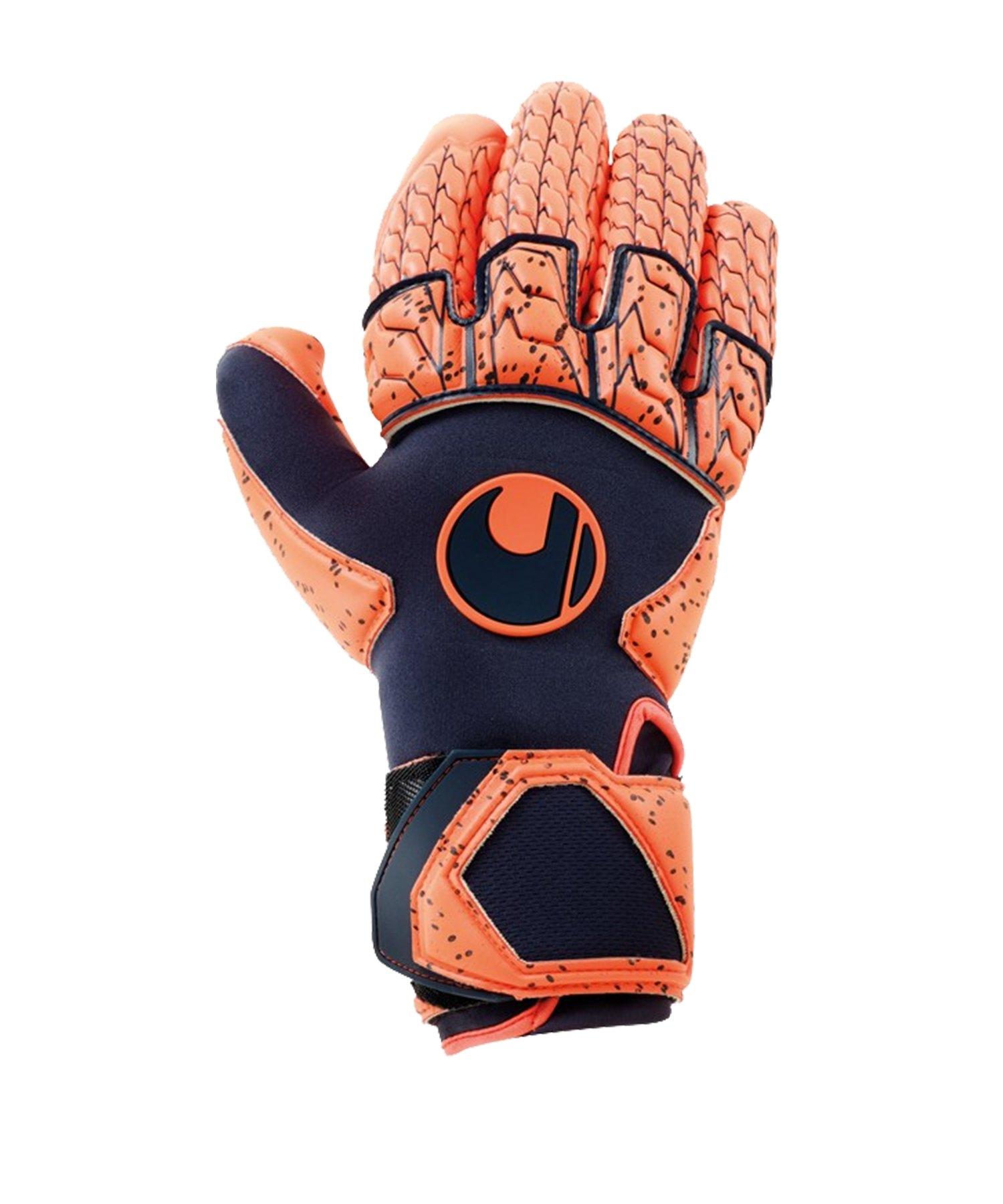 Uhlsport Next Level Supergrip Reflex TW-Handschuh Orange F01 - blau