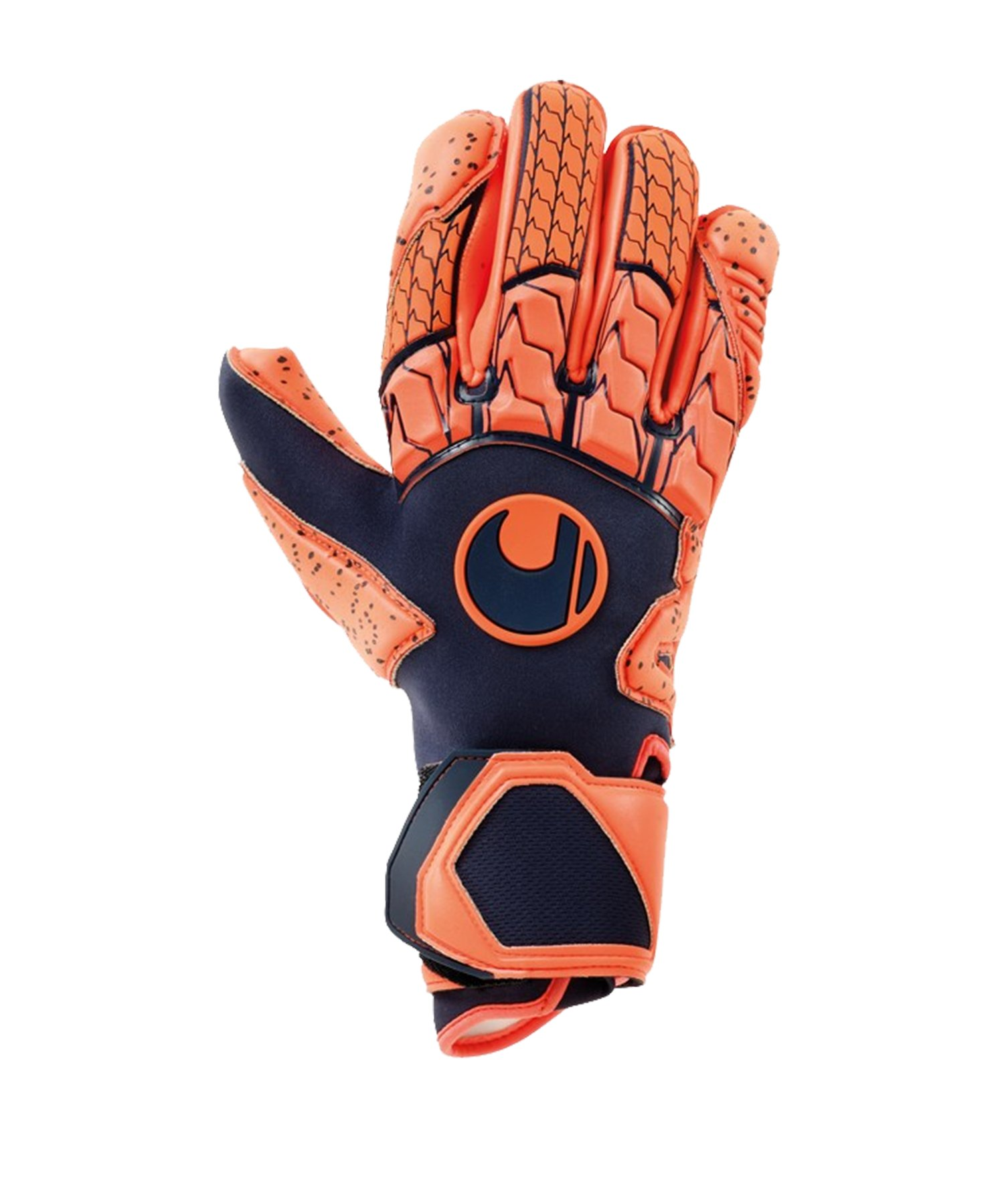 Uhlsport Next Level Supergrip TW-Handschuh Orange F01 - blau