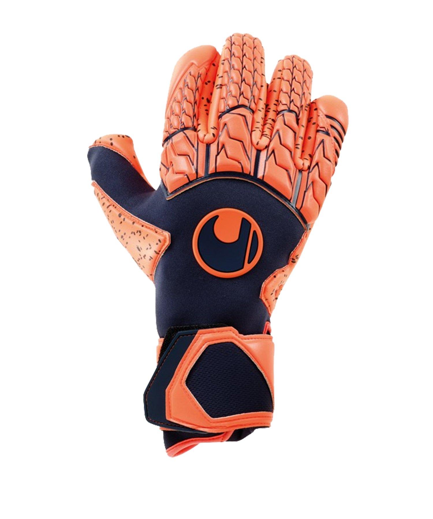 Uhlsport Next Level Supergrip Finger Surround TW-Handschuh Orange F01 - blau