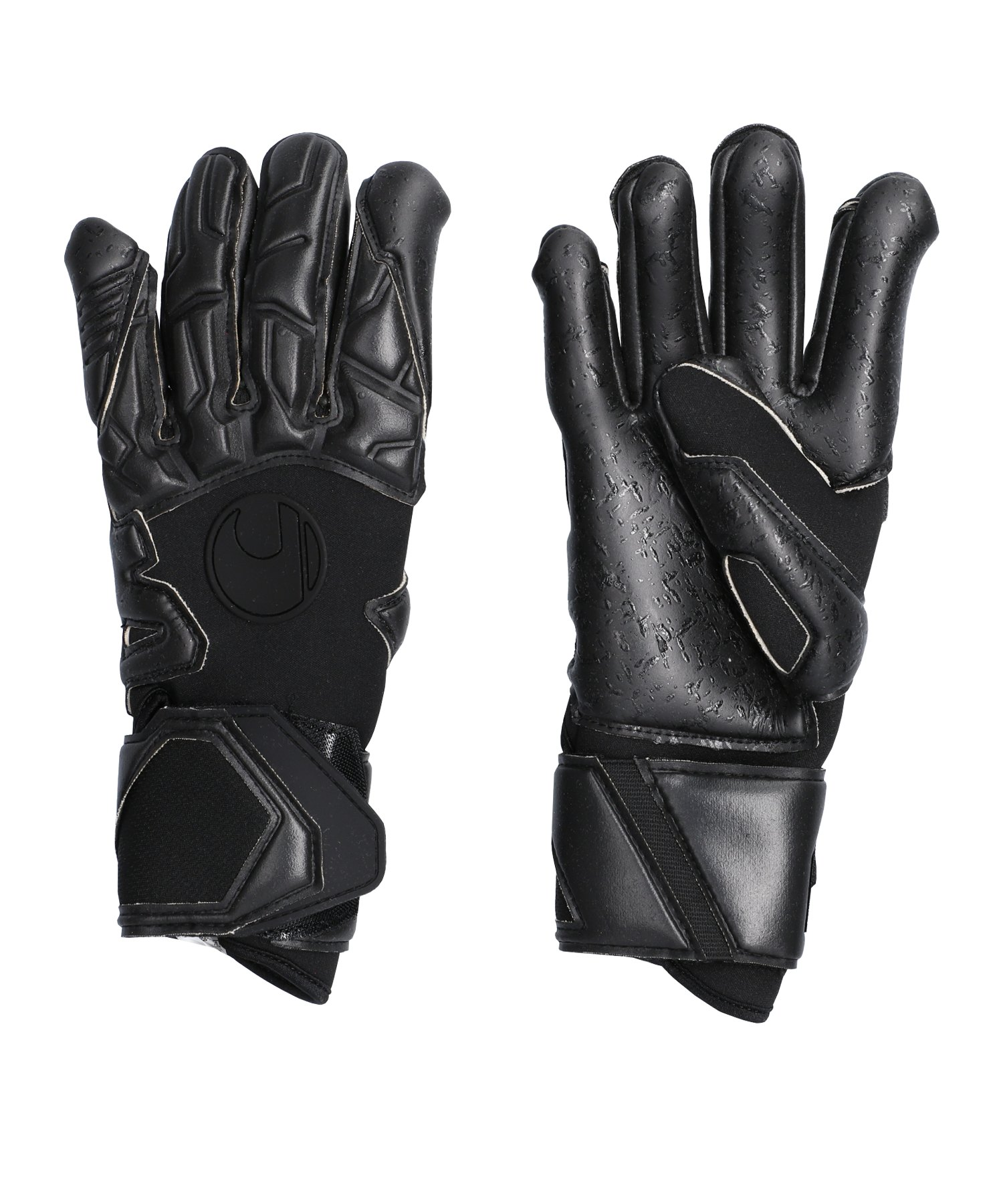 Uhlsport Black Edition Supergrip HN Handschuh F01 - schwarz