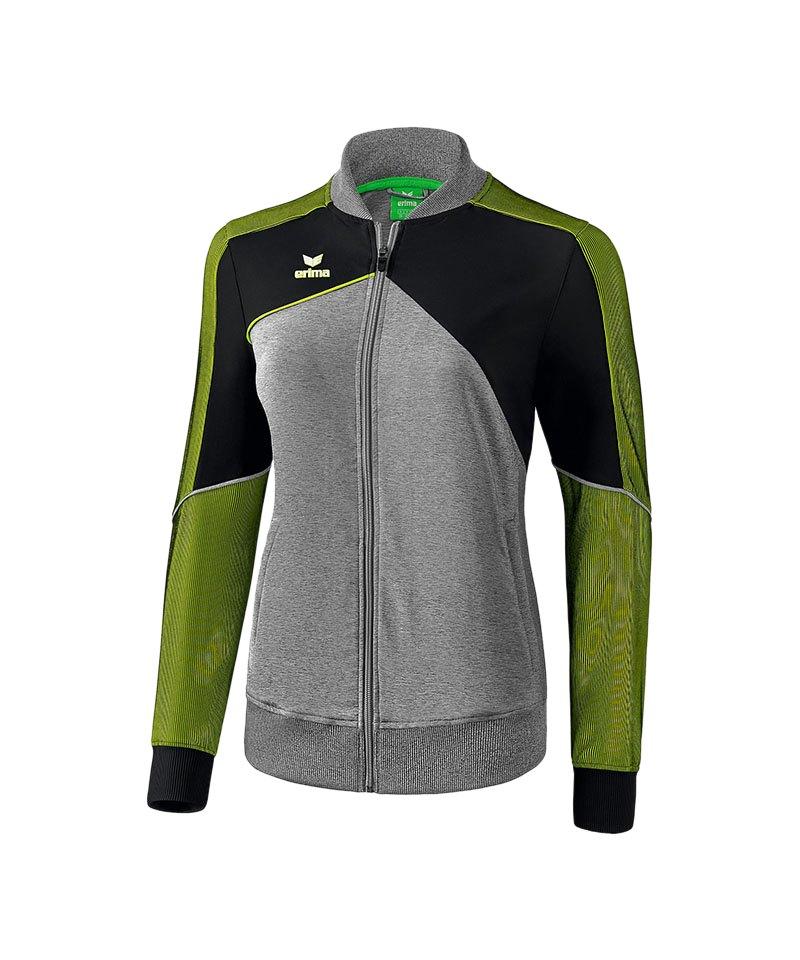 Erima Premium One 2.0 Präsi-Jacke Damen Grün Grau - gruen