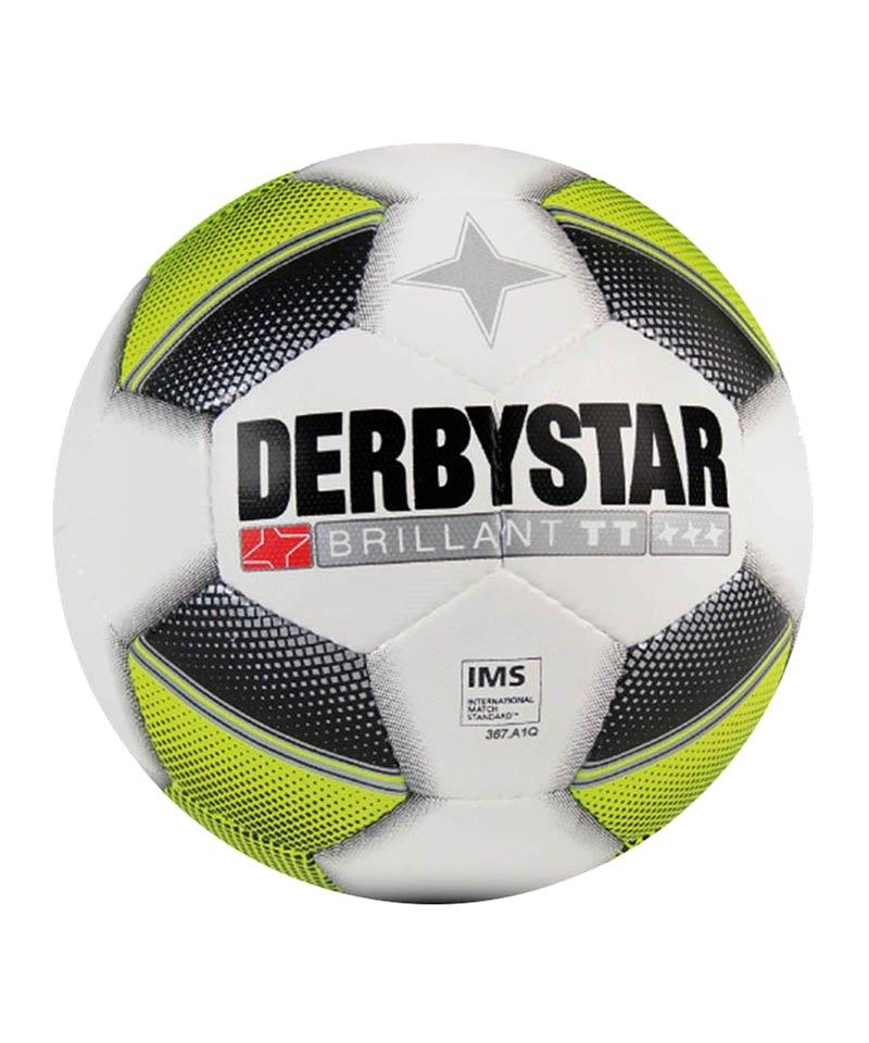 Derbystar Trainingsball Brillant TT Weiss Gelb F152 - weiss