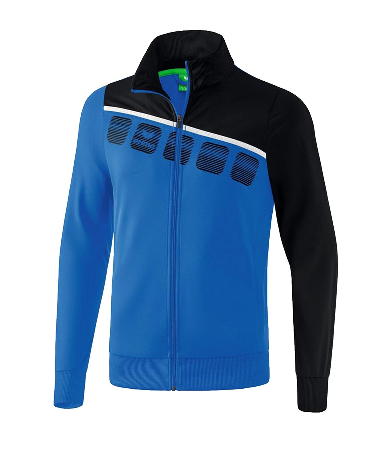 Erima 5-C Polyesterjacke Kids Blau Schwarz - Blau