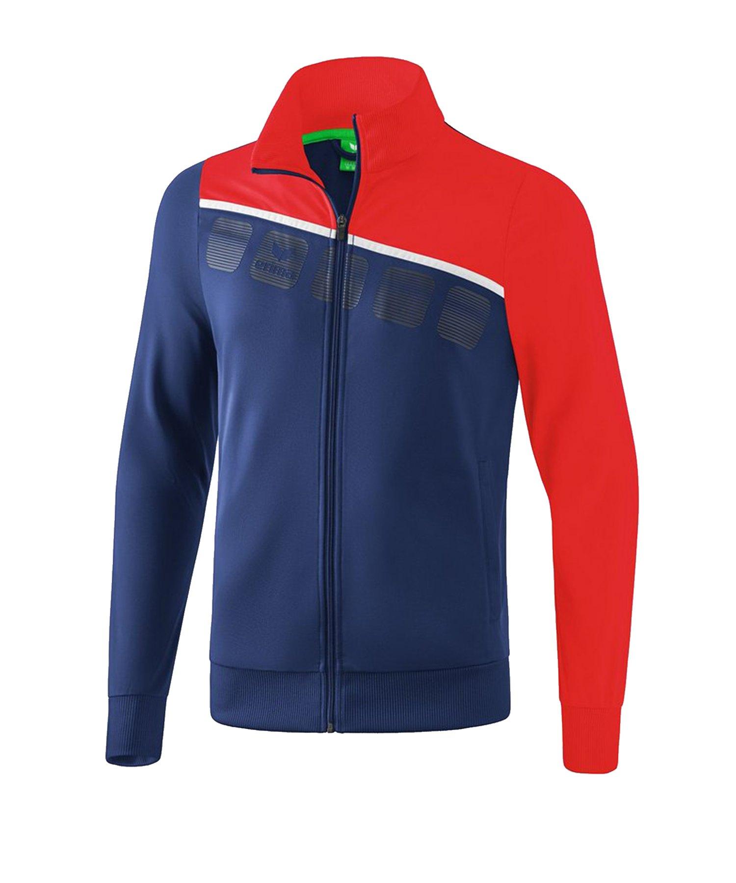 Erima 5-C Polyesterjacke Kids Blau Rot - Blau