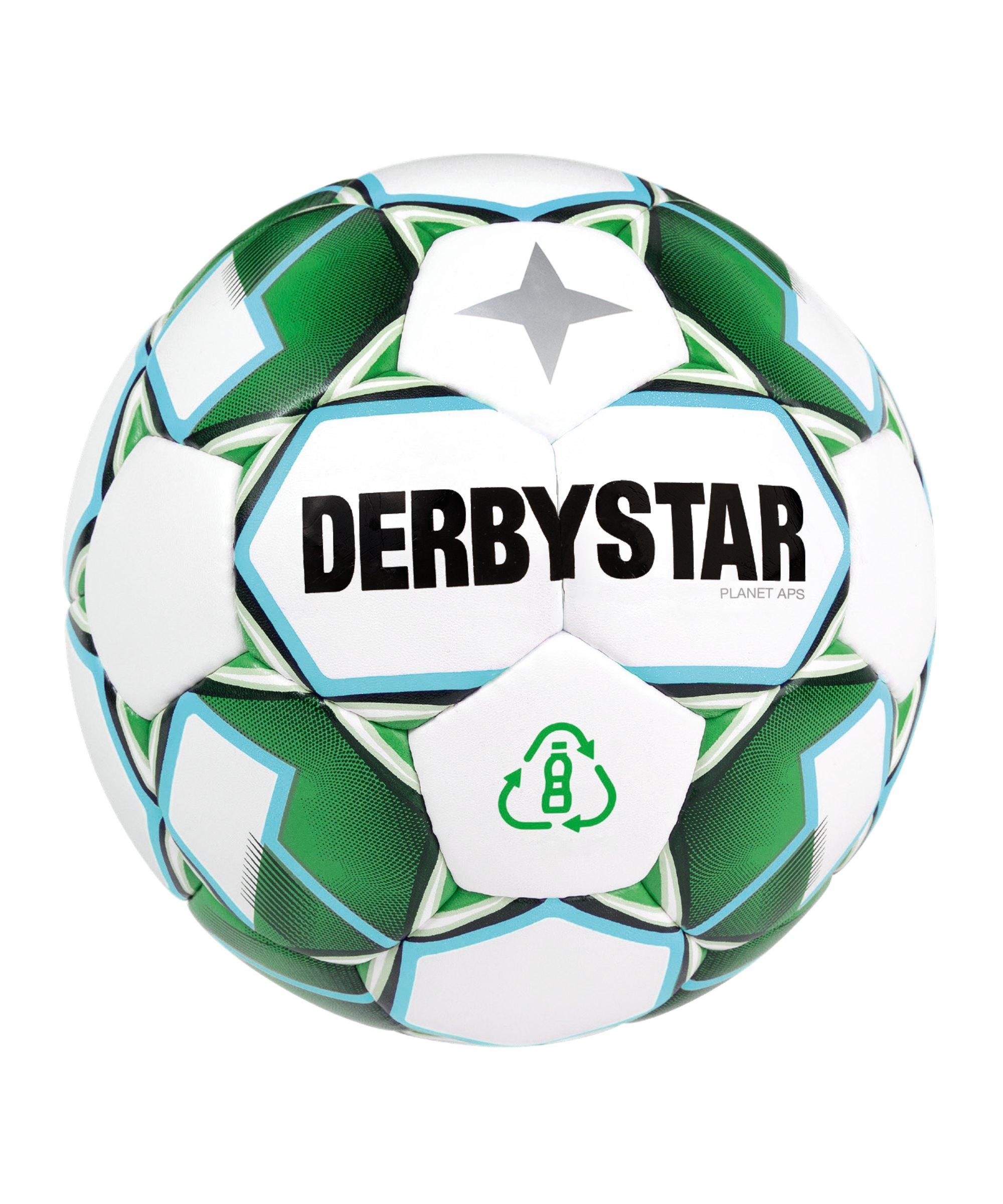 Derbystar Planet APS v21 Spielball Weiss Grün F24 - weiss