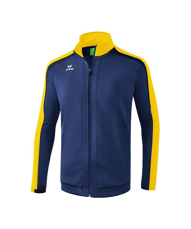 Erima Liga 2.0 Trainingsjacke Kids Blau Gelb - blau