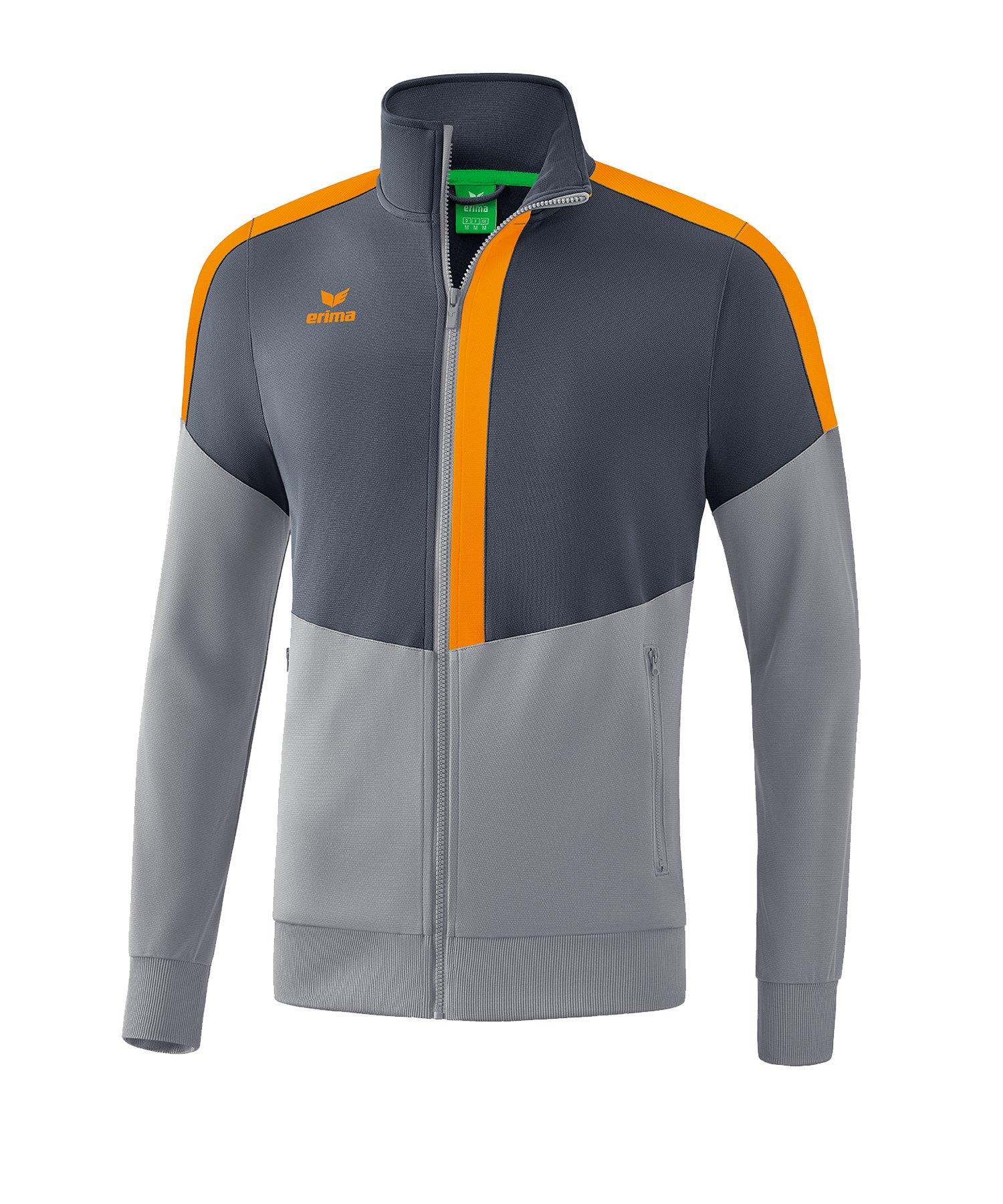 Erima Squad Trainingsjacke Grau Orange - grau