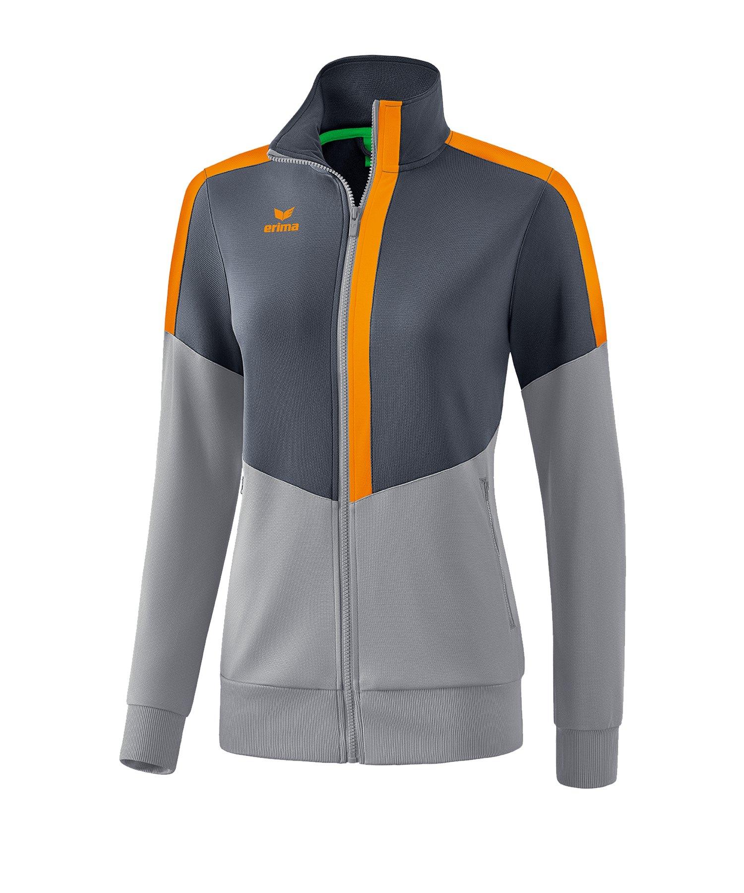 Erima Squad Trainingsjacke Damen Grau Orange - grau