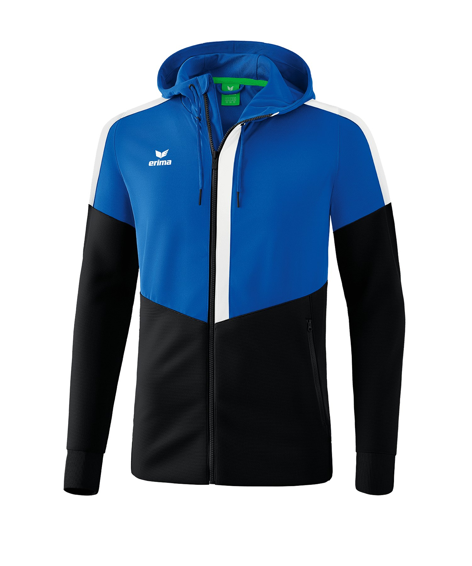 Erima Squad Kapuzen-Trainingsjacke Blau Schwarz - blau
