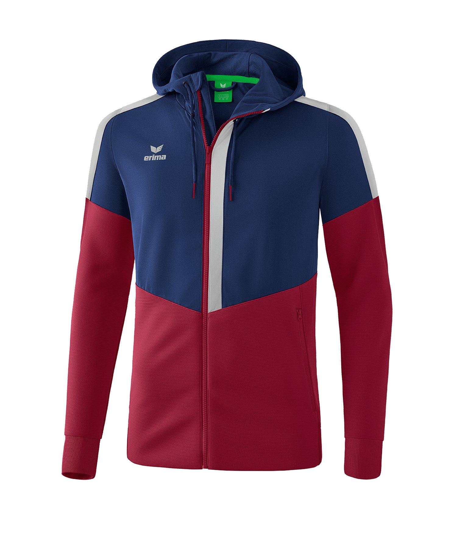 Erima Squad Kapuzen-Trainingsjacke Blau Rot - blau