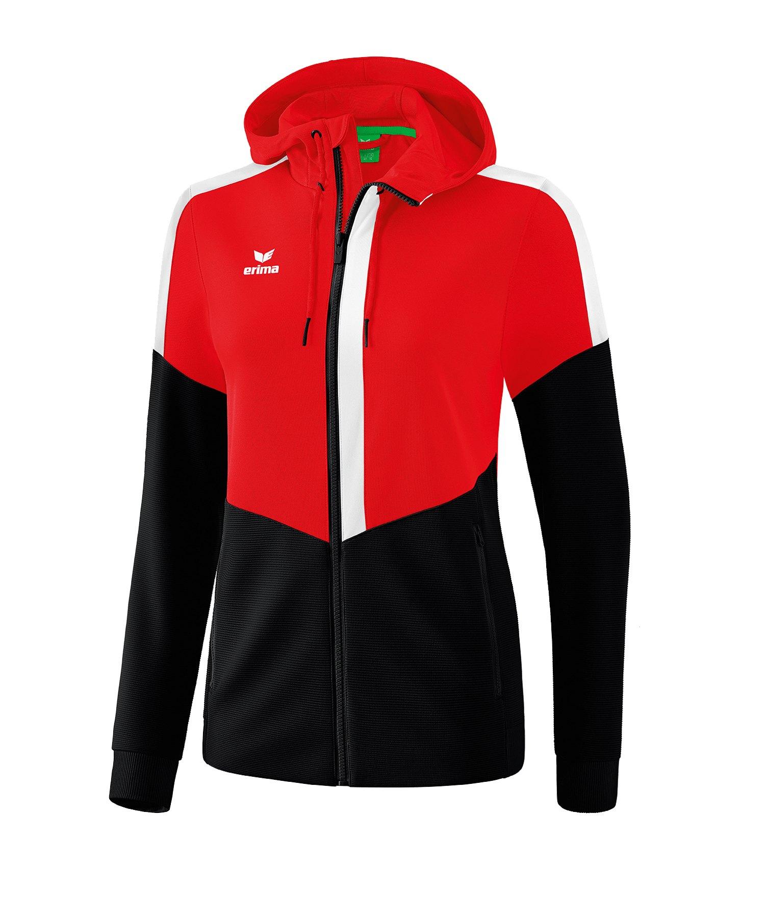 Erima Squad Kapuzen-Trainingsjacke Damen Rot - rot