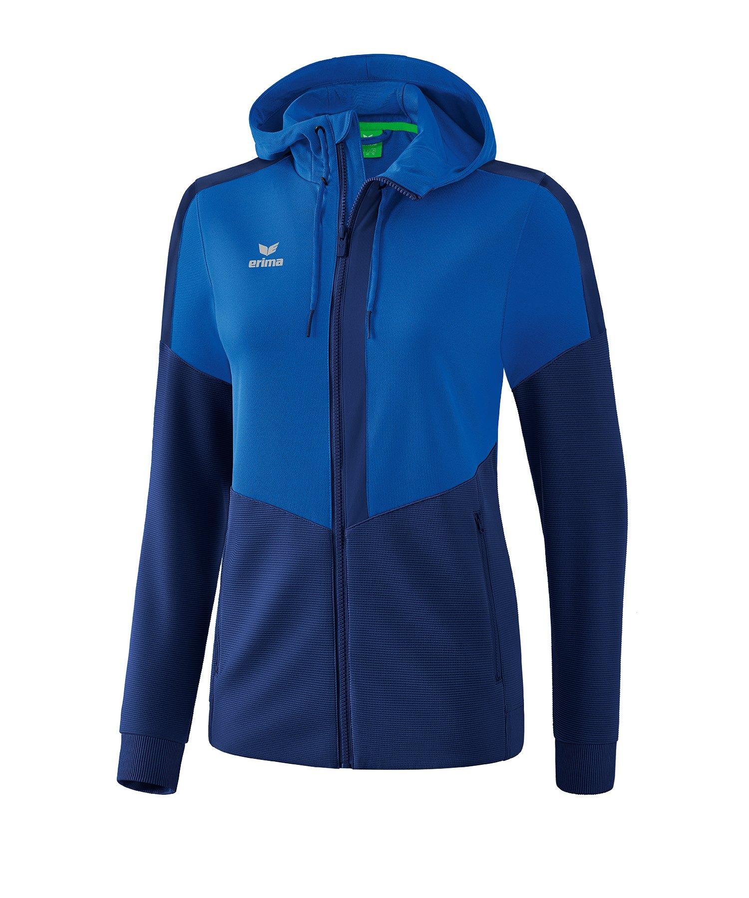 Erima Squad Kapuzen-Trainingsjacke Damen Blau - blau