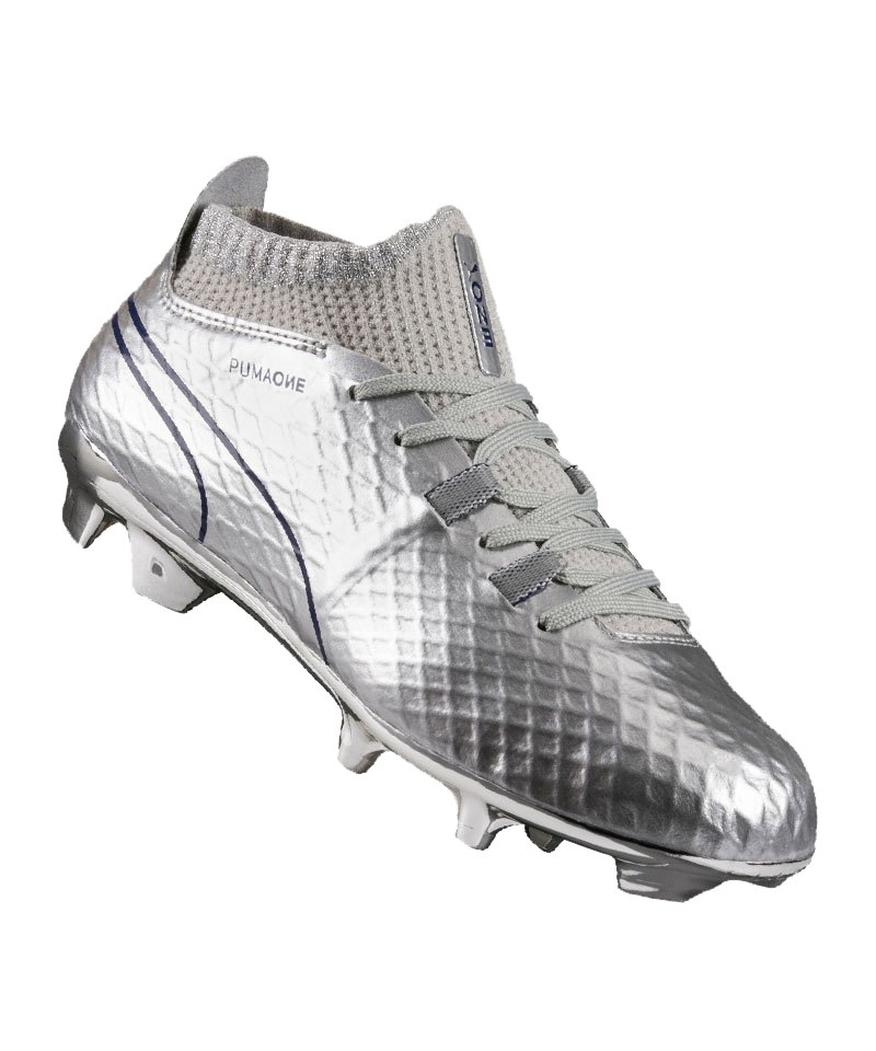 PUMA ONE Chrome FG Kids Silber Blau F01 - silber