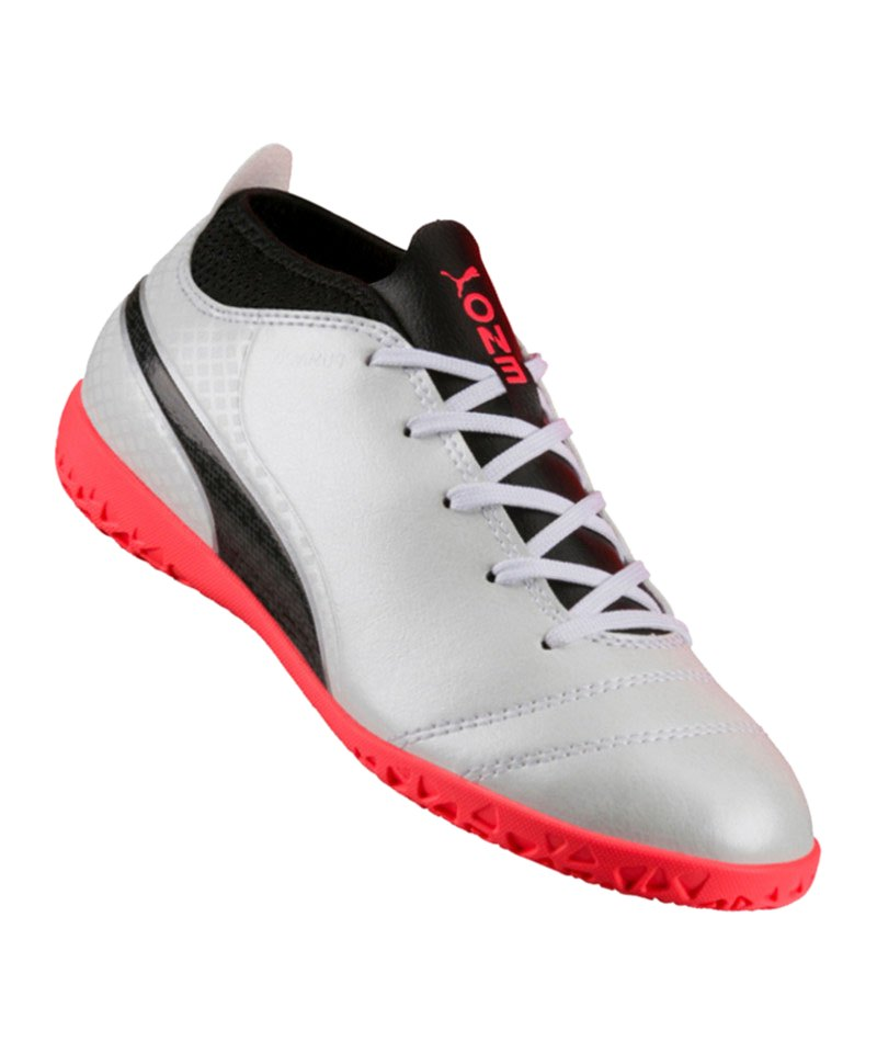 PUMA IT Halle ONE 17.4 Kinder Weiss Rot F01 - weiss