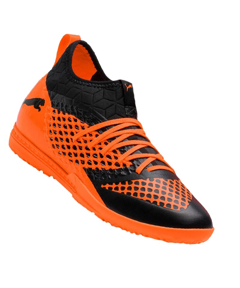PUMA FUTURE 2.3 NETFIT TT Turf Orange F02 - schwarz