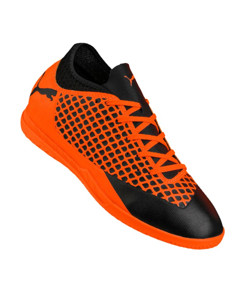 PUMA FUTURE 2.4 IT Halle Kids Orange F02 - schwarz