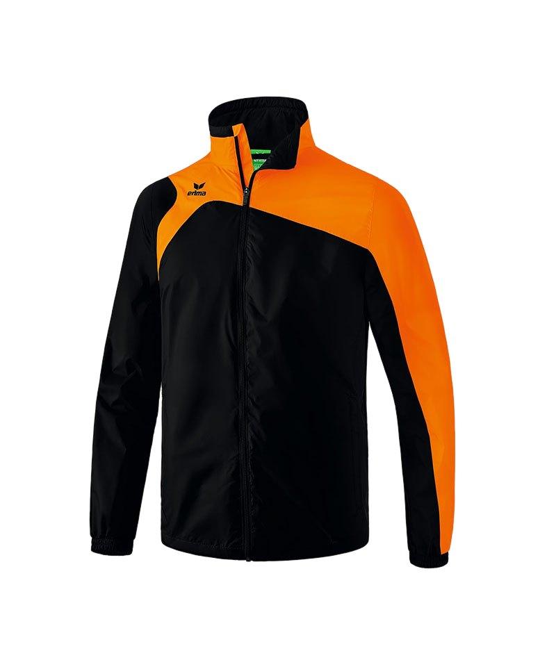 Erima Regenjacke Club 1900 2.0 Schwarz Orange - schwarz