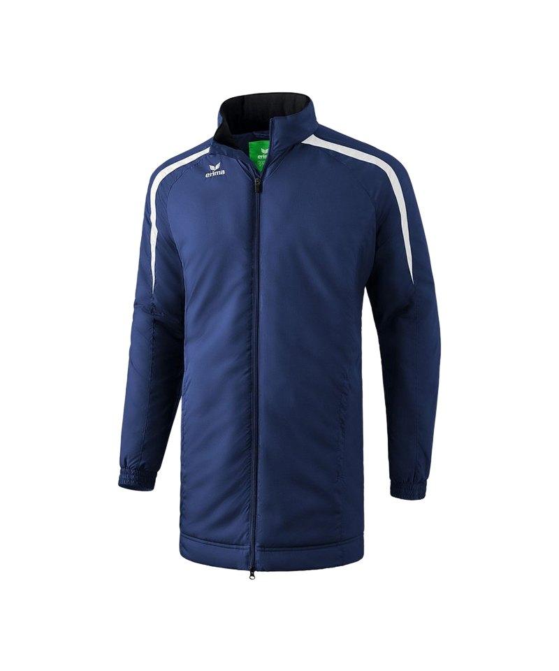 Erima Liga 2.0 Coachjacke Blau Weiss - blau