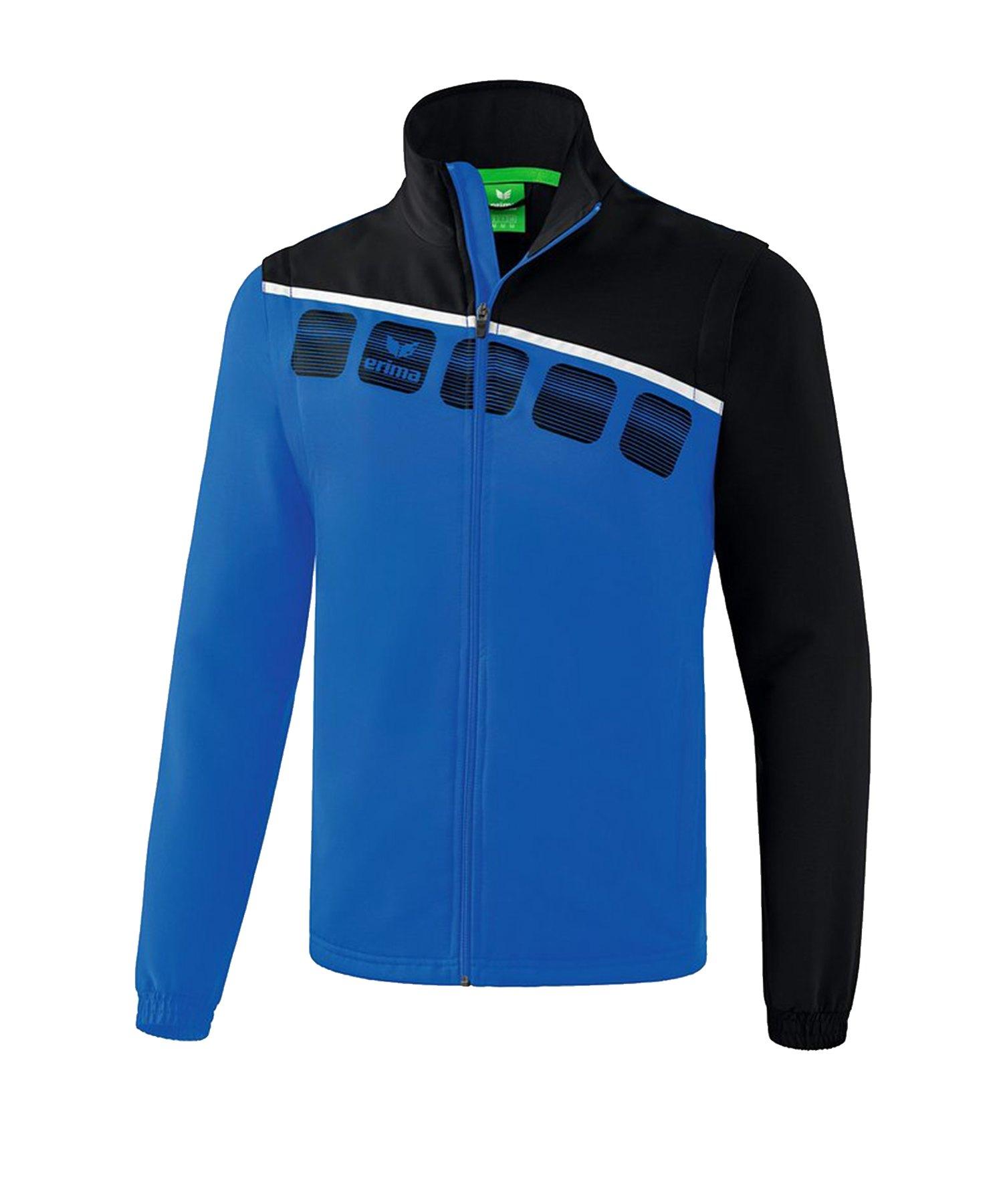 Erima 5-C Jacke m. abnehmbaren Ärmeln Blau Schwarz - Blau