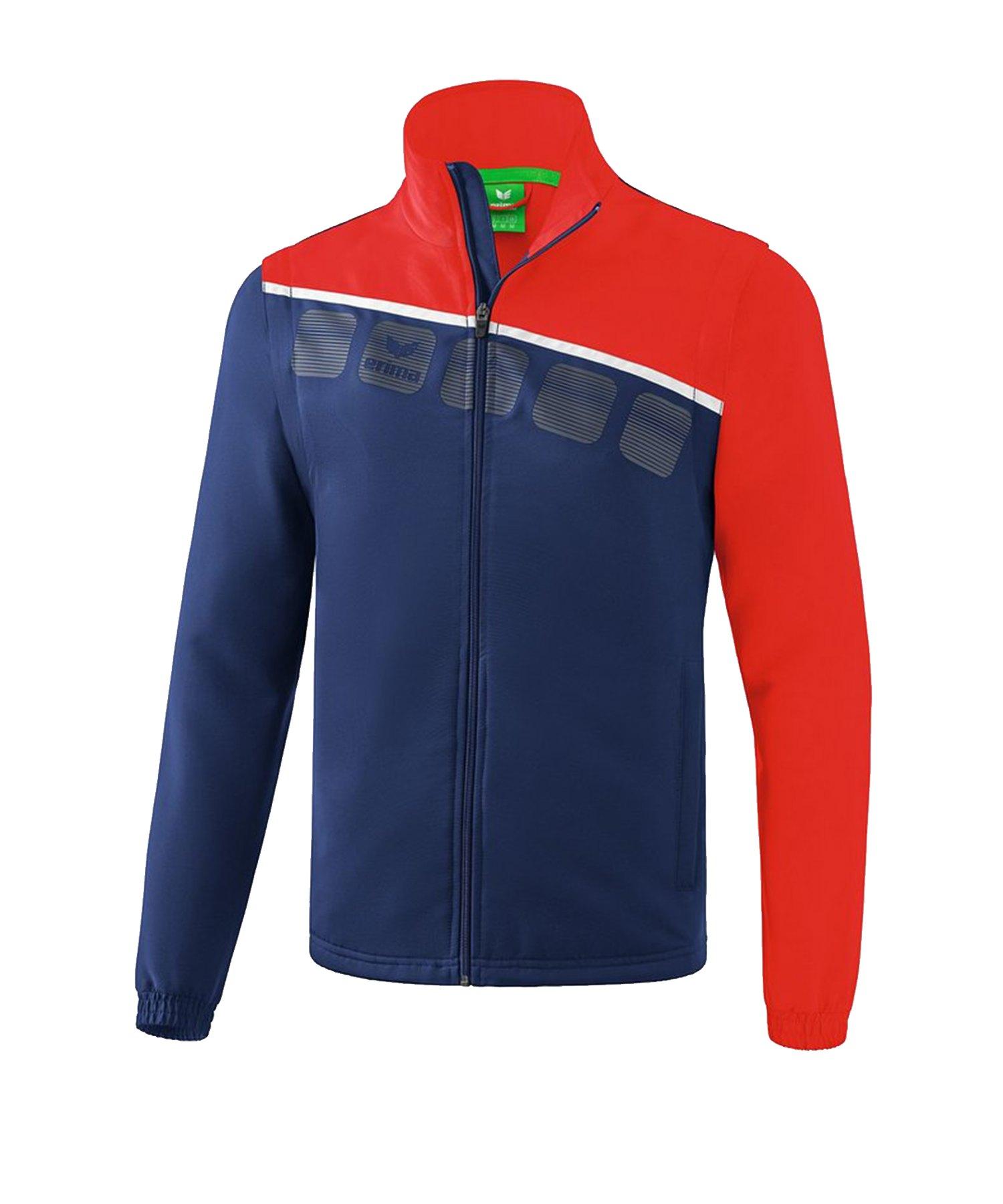 Erima 5-C Jacke mit abnehmbaren Ärmeln Blau Rot - Blau