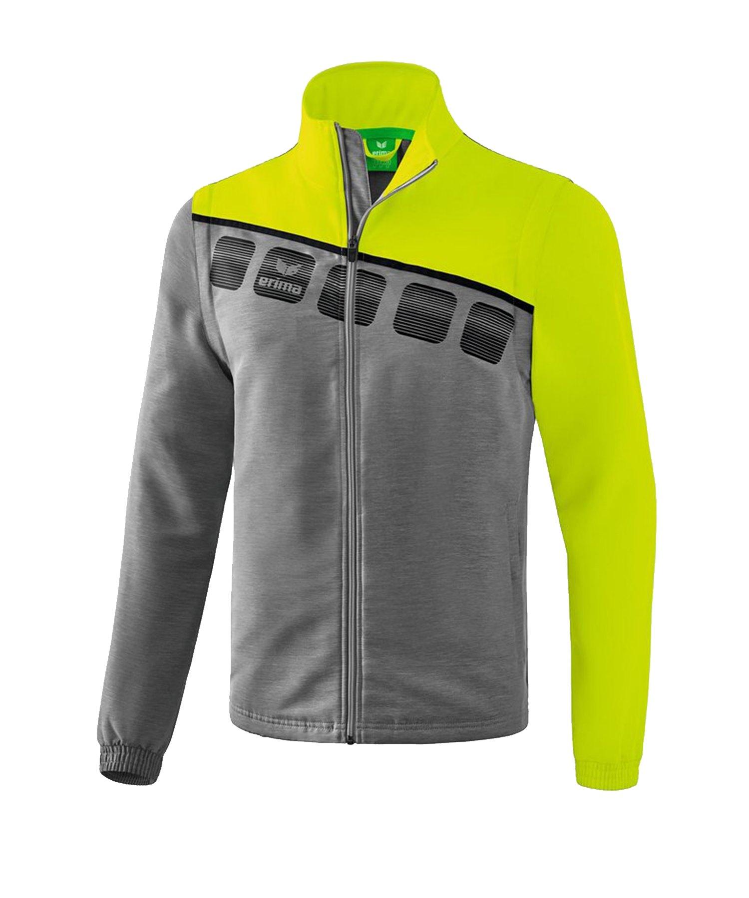 Erima 5-C Jacke mit abnehmbaren Ärmeln Grau Grün - Grau