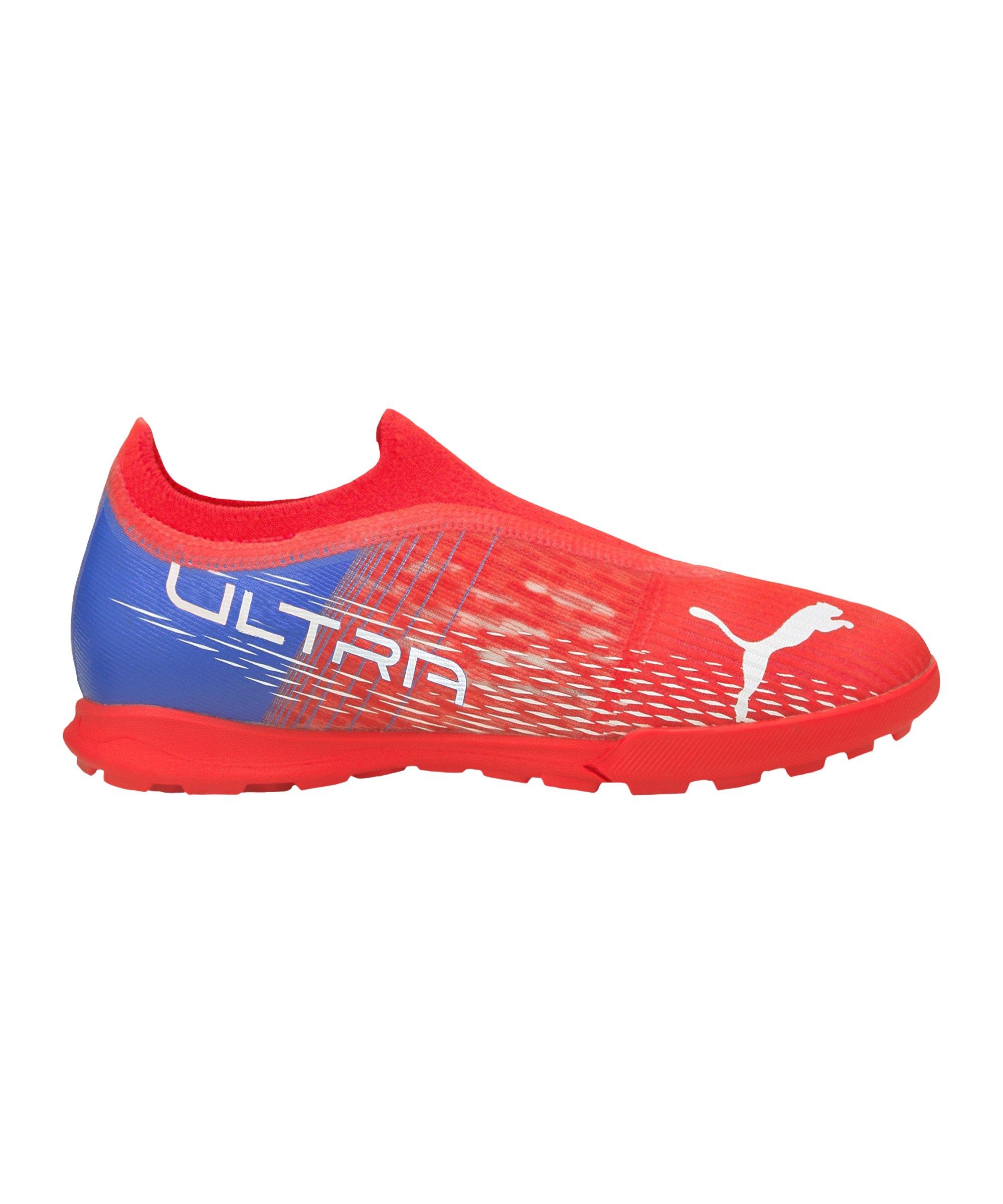 PUMA ULTRA 3.3 Faster Football TT Kids Rot Weiss F01 - rot