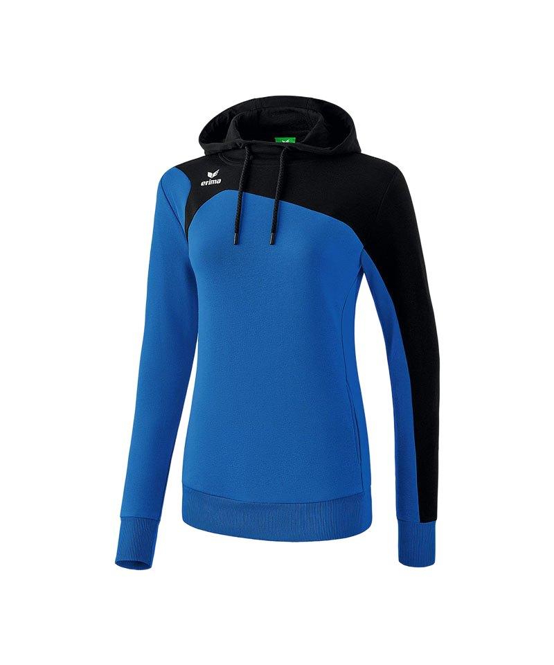 Erima Club 1900 2.0 Kapuzensweat Damen Blau - blau