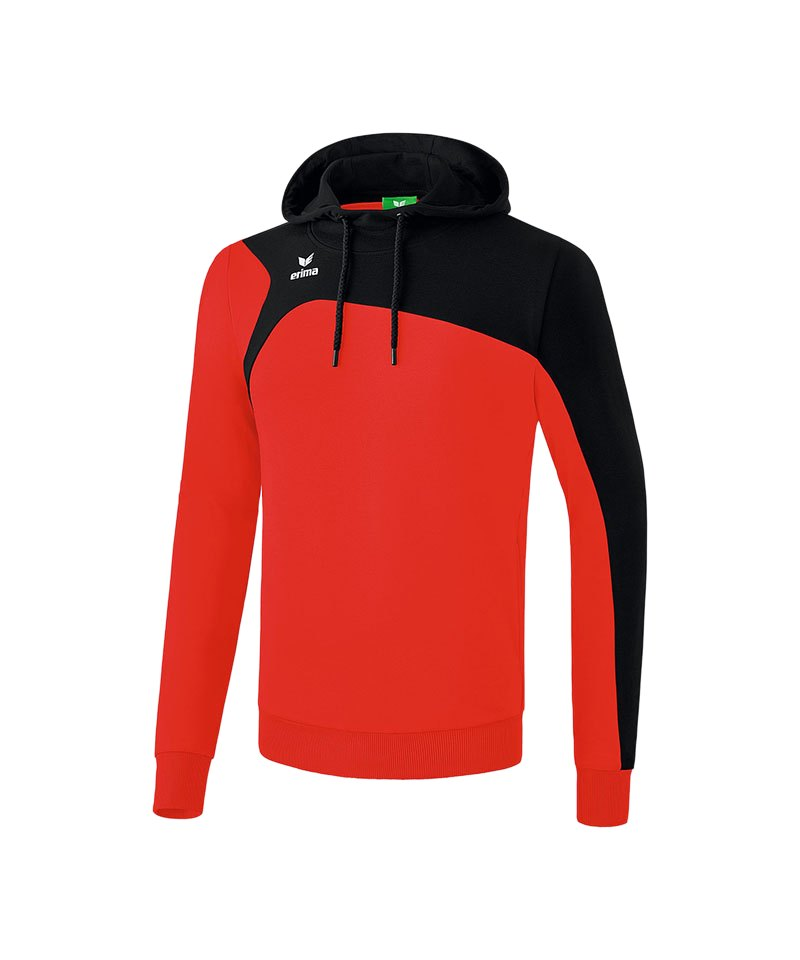 Erima Club 1900 2.0 Kapuzensweatshirt Rot Schwarz - rot