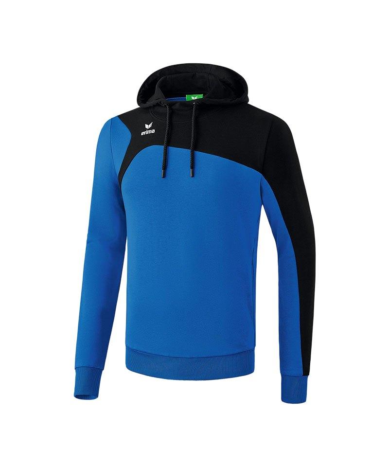 Erima Kapuzensweatshirt Club 1900 2.0 Rot Schwarz - blau