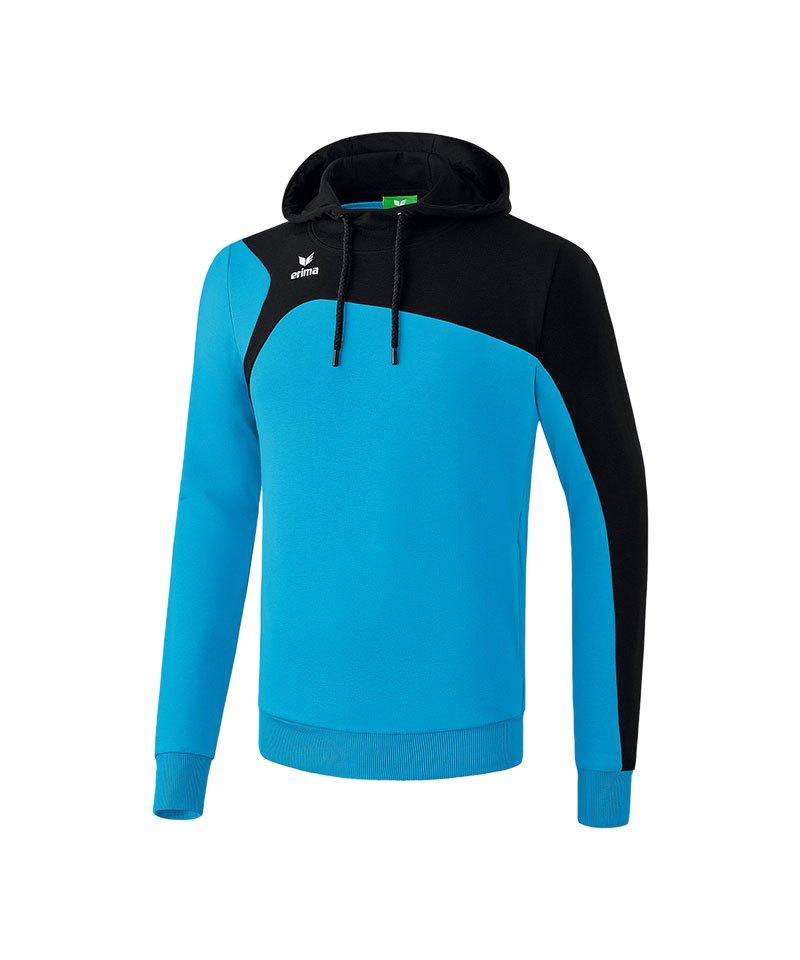 Erima Kapuzensweatshirt Club 1900 2.0 Blau Schwarz - blau