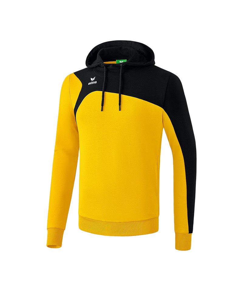 Erima Kapuzensweatshirt Club 1900 2.0 Gelb Schwarz - gelb