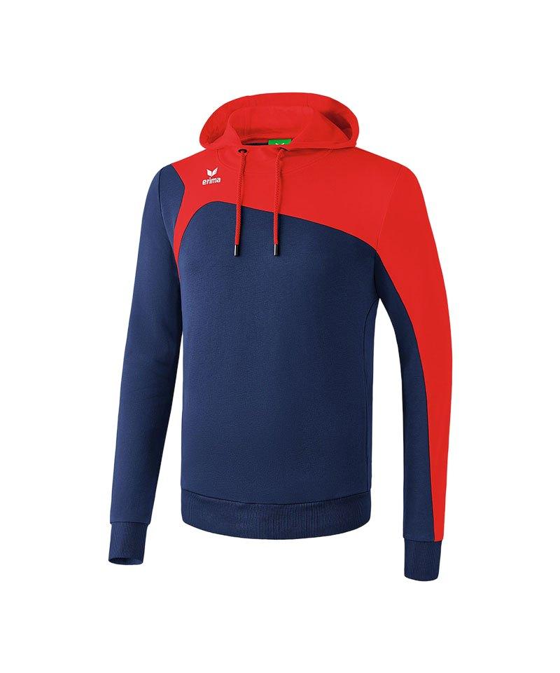 Erima Kapuzensweatshirt Club 1900 2.0 Blau Rot - blau