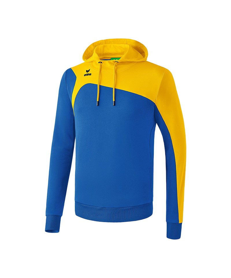 Erima Kapuzensweatshirt Club 1900 2.0 Blau Gelb - blau