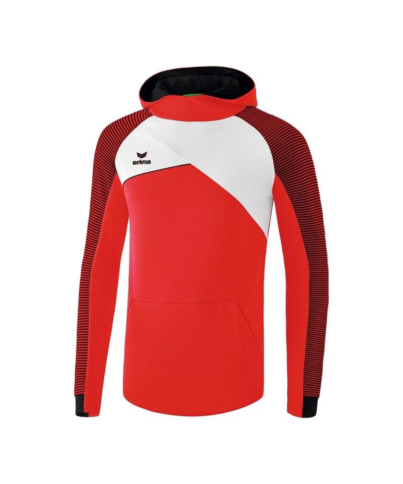 Erima Premium One 2.0 Kapuzensweat Rot Weiss - rot