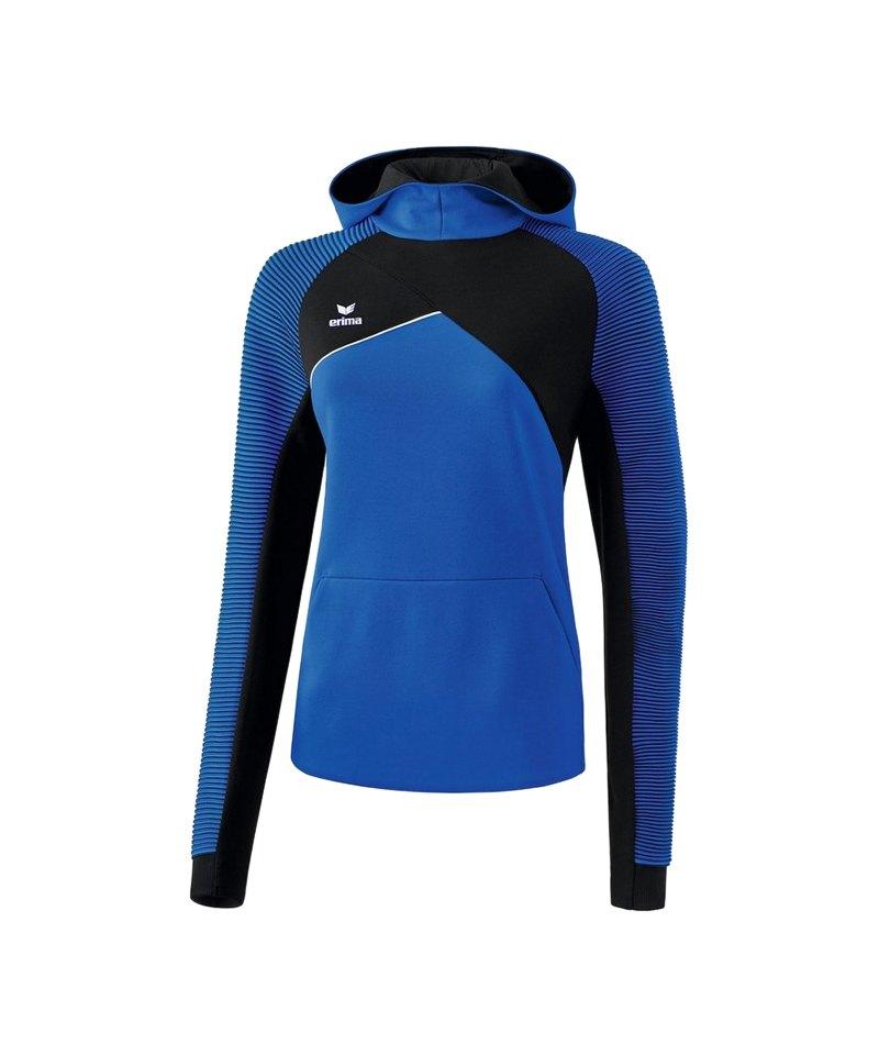 Erima Premium One 2.0 Kapuzensweat Damen Blau - blau