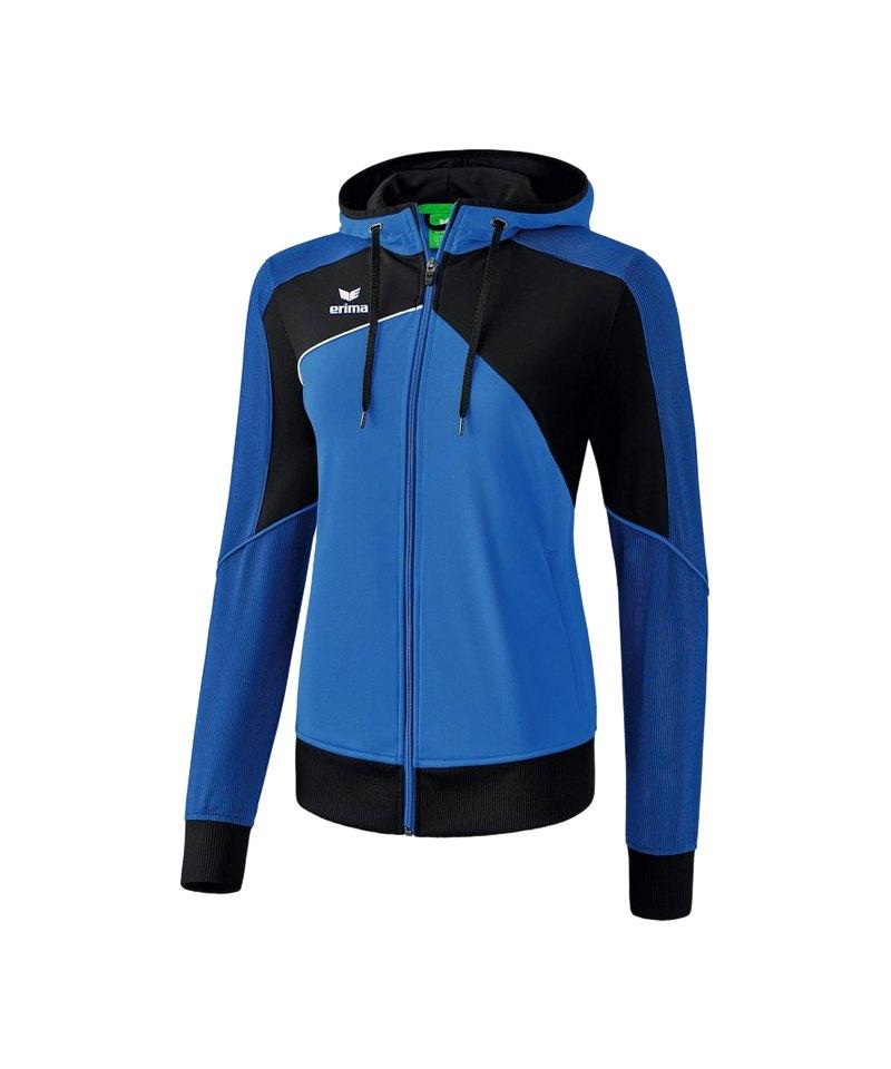 Erima Premium One 2.0 Kapuzenjacke Damen Blau - blau