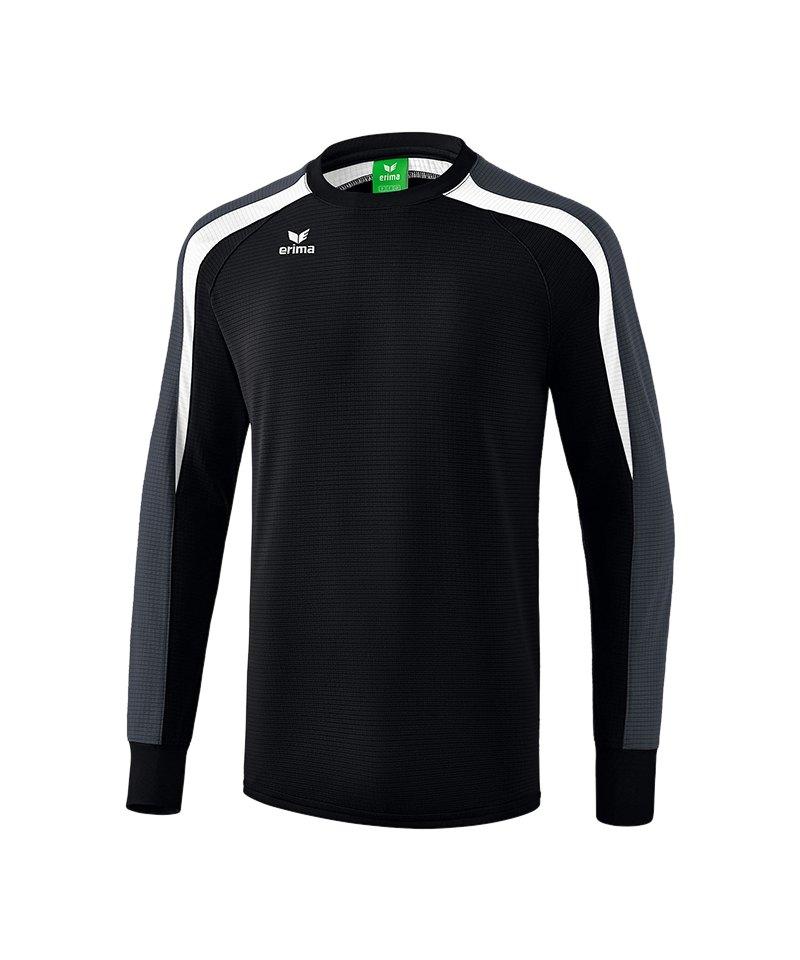 Erima Liga 2.0 Sweatshirt Kids Schwarz Weiss Grau - schwarz