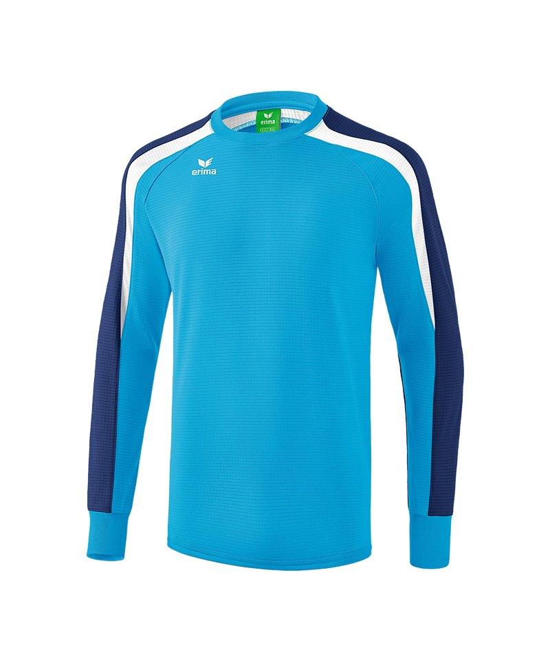 Erima Liga 2.0 Sweatshirt Hellblau Blau Weiss - blau