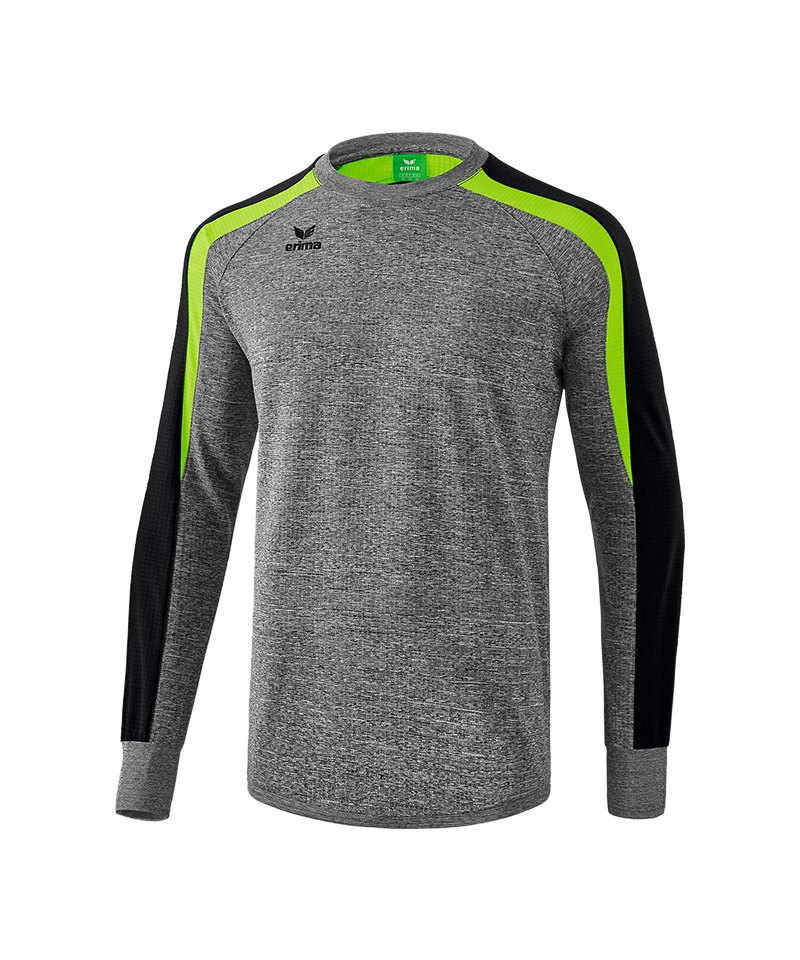 Erima Liga 2.0 Sweatshirt Grau Schwarz Grün - grau