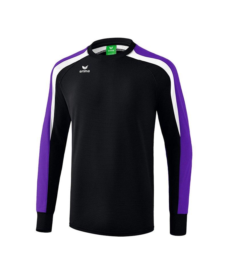 Erima Liga 2.0 Sweatshirt Kids Schwarz Lila Weiss - schwarz