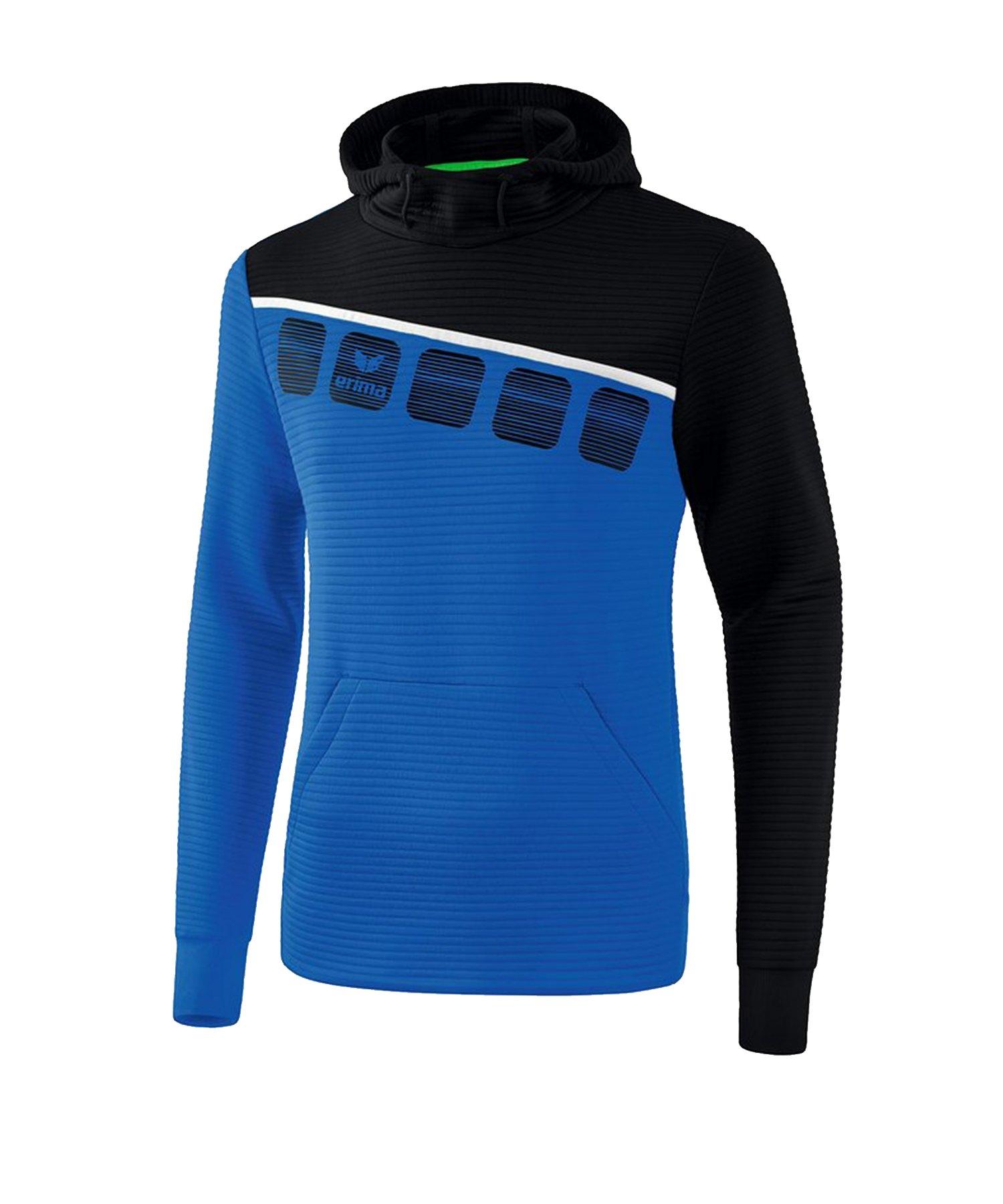 Erima 5-C Kapuzensweat Blau Schwarz - Blau