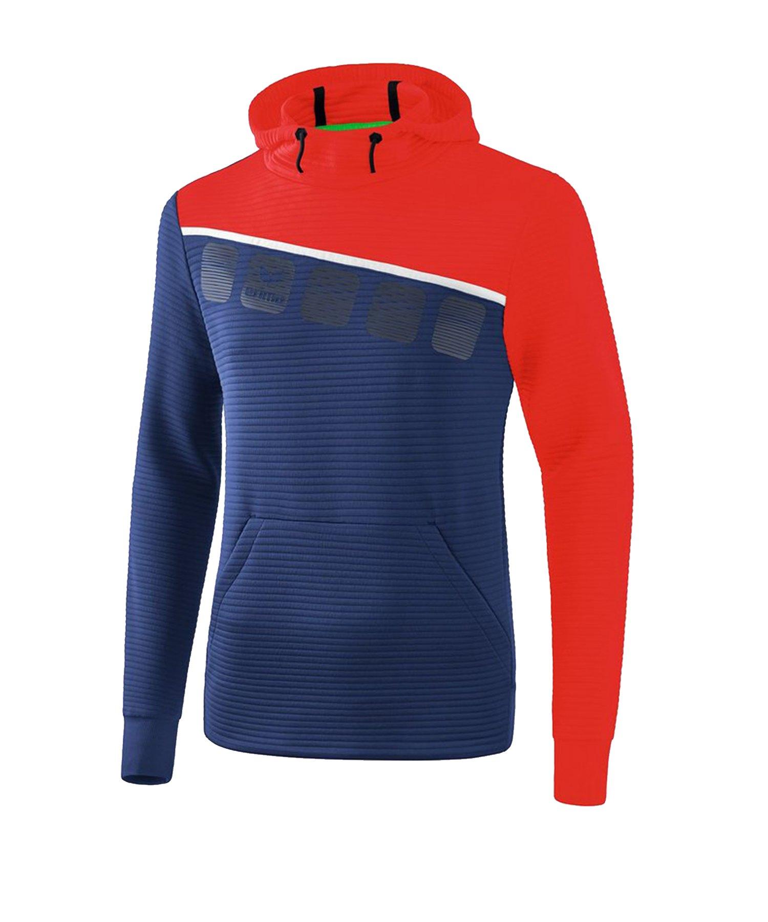 Erima 5-C Kapuzensweat Blau Rot - Blau